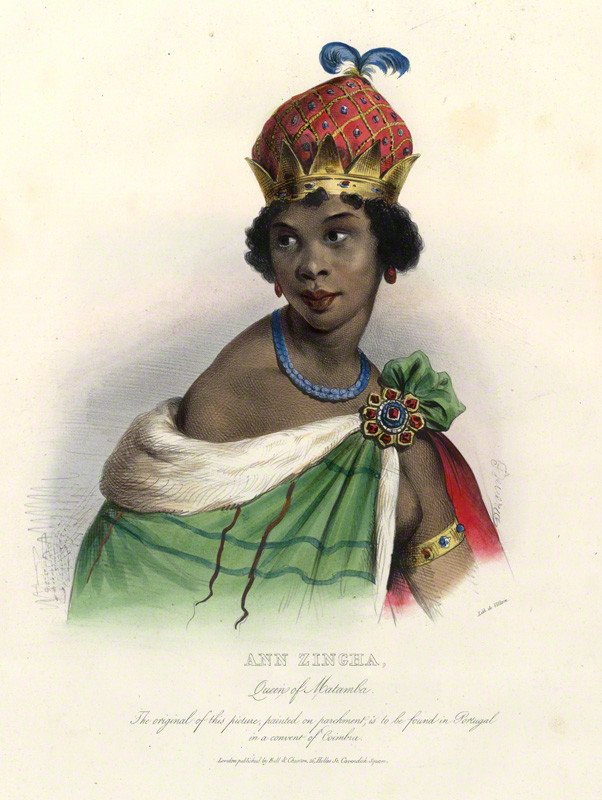 npg d34632 ann zingha by achille deveria printed by franaois le villain published by edward bull published by edward churton after unknown artist