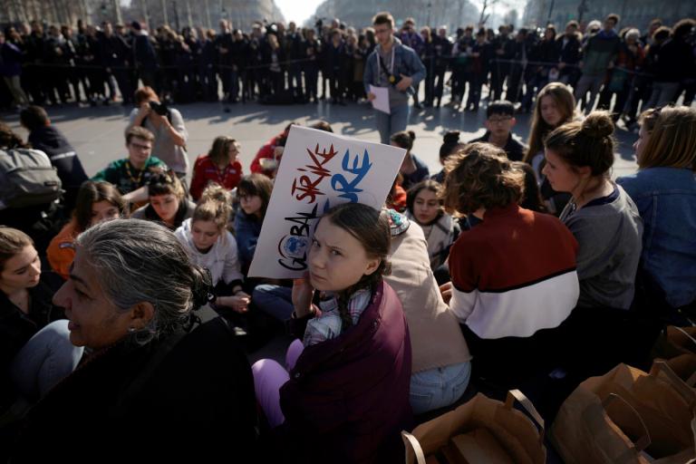 99 la jeunesse guidant le peuple climat 14 Greta Thunberg ©L.BonaventureAFP
