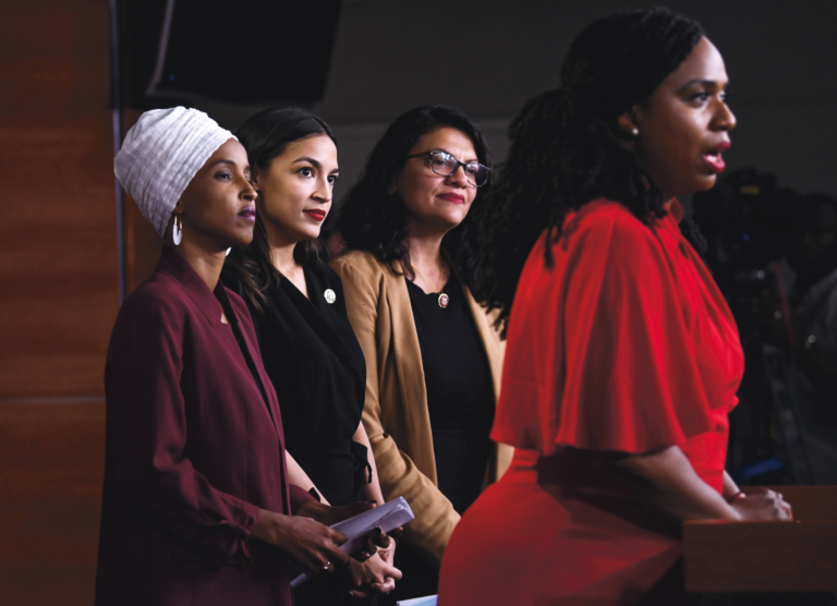 representatives omar pressley ocasio cortez and tlaib in response to presidentis comments