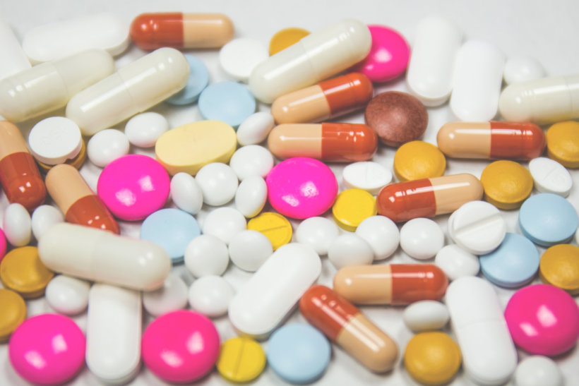 assorted medication tables and capsules