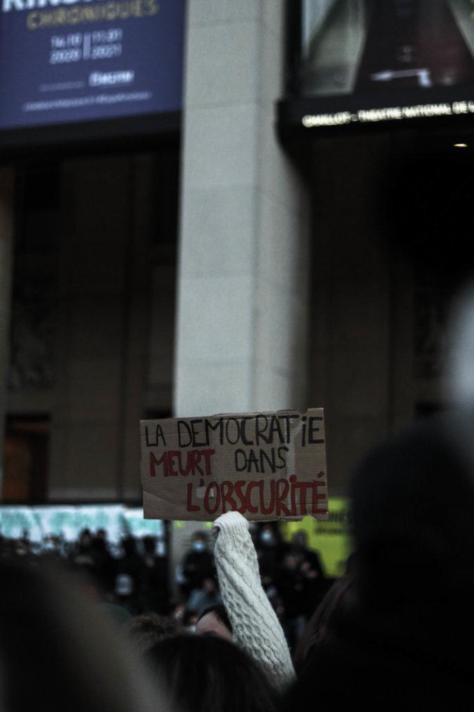 pancarte liberté expression