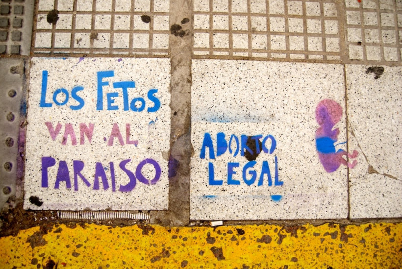 Pro choice street art in Argentina