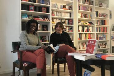 Fatima Farradji et Marianne Vérité, dans leur librairie.